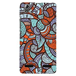 ColourCrust Lenovo A6000 Mobile Phone Back Cover With Colourful Abstract Art - Durable Matte Finish Hard Plastic Slim Case
