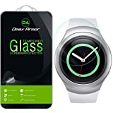 Samsung Gear S2 Glass Screen Protector, Dmax Armor- Ballistics [Tempered Glass] Anti-Scratch, Anti-Fingerprint, Round Edge [0.3mm] Ultra-Clear - Retail Packaging (Color: Samsung Gear S2)