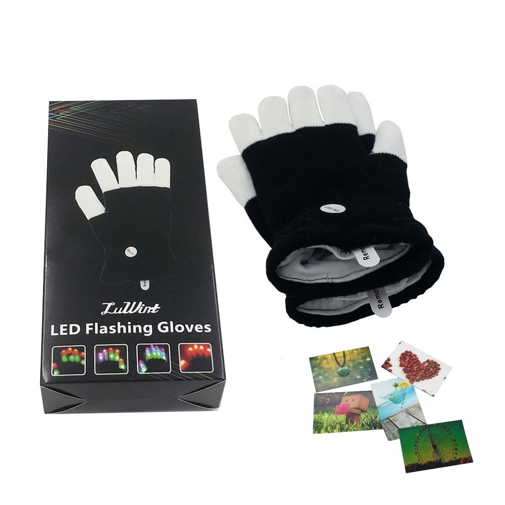 Flashing Finger LED Rave Gloves by Luwint