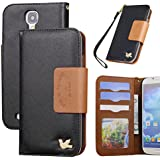 Galaxy S4 case,case for Samsung Galaxy S4,By HiLDA,Wallet Case,PU Leather Case,Credit Card Holder,Flip Cover Skin[Black]