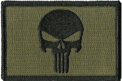 klettband-velcro-olive-drab-punisher-tactical-military-morale-airsoft-outlaw-skull-aufnaher-patch