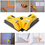Spirit Level,SUPPION 1pcs Vertical Horizontal Line Word Line Projection Square Level Right Angle