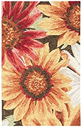 Rug Squared Melbourne Indoor/Outdoor Area Rug (MEB06), 10-Feet by 13-Feet, Sunflower
