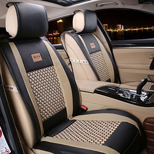 FuriAuto PU Leather Car Seat Cover Cushions Front Rear