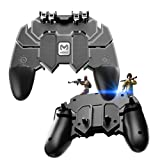 EMISH Mobile Game Controller Gamepad Trigger Aim Button L1R1 Shooter Joystick for PUBG/Fornite/Knives Out/Rules of Survival (Color: black-2)
