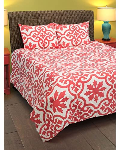 Rizzy Home Coral Molly 3-Piece Comforter Set