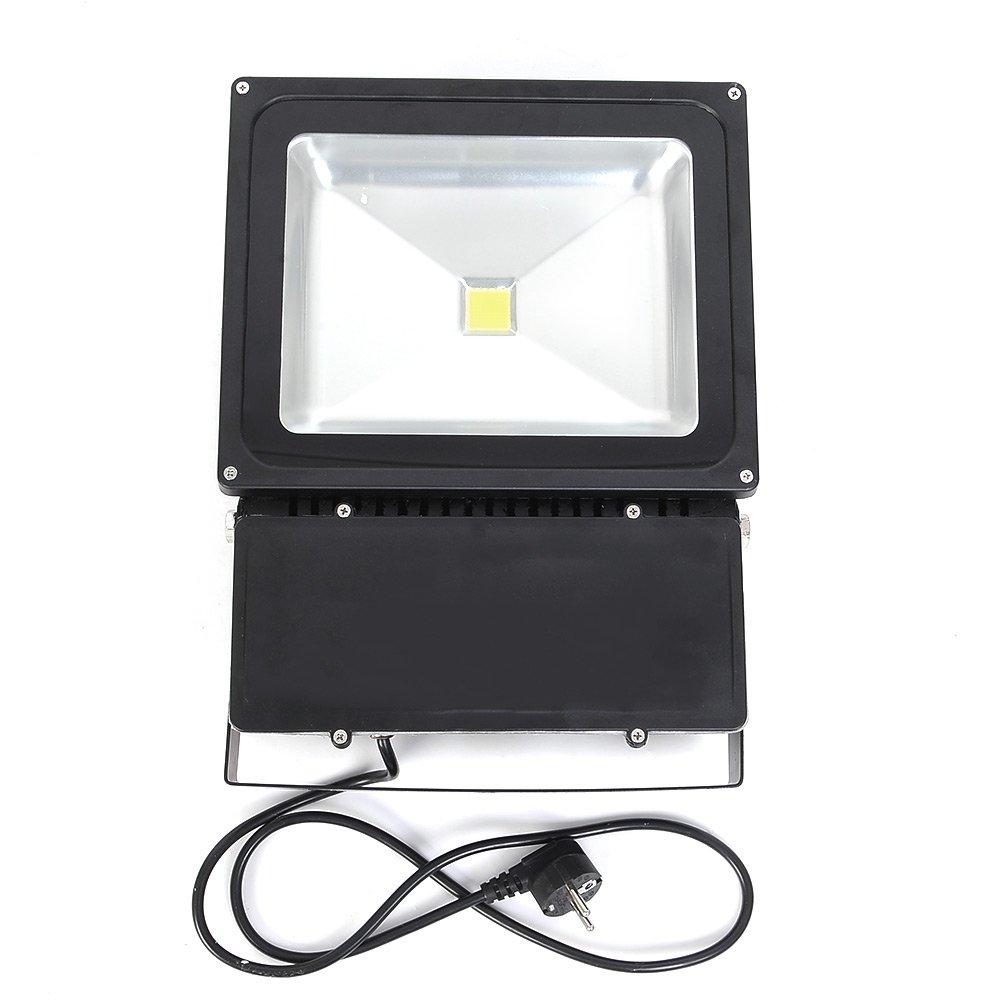 amzdeal® LED Fluter Außen Strahler Scheinwerfer 5500 Kelvin  weiß  100W mit Stecker  BaumarktKundenbewertungen