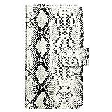 スマホケース 手帳型 全機種対応 オーダー ヘビ柄 ホワイト iPhone6s Plus カバー 手帳 蛇 スネーク パイソン python おしゃれ かわいい かっこいい 人気 オーダーメイド ケース wn-0166934-wy