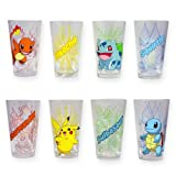 Set of Four Officially Licensed Pokémon Pint Glasses (Color: Clear)