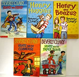 Amazon.com : Set of 5 BEVERLY CLEARY Henry Chapter Books ...