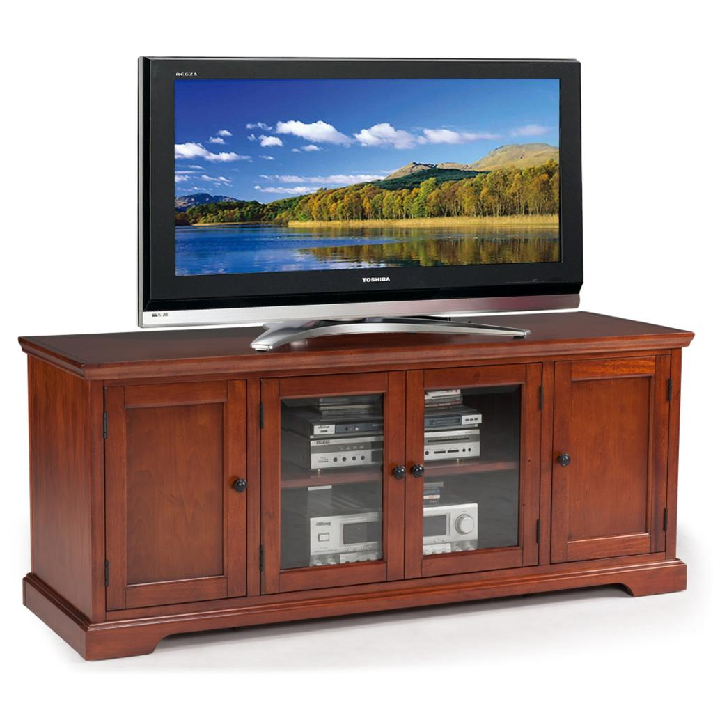 leick riley holliday westwood tv stand 50 inch brown cherry television stands. Black Bedroom Furniture Sets. Home Design Ideas