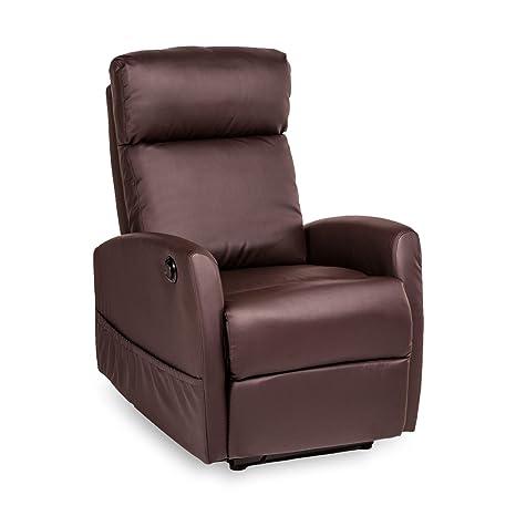 Fernsehsessel Relaxsessel TV Sessel elektrisch verstellbar Kunstleder in braun