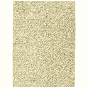Modern Shag Area Rug Beige 4ft X 6ft (4x6-5x7) Contemporary Kids Carpet