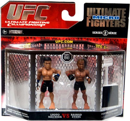 UFC Ultimate Fighting Jakks Pacific Series 2 Micro Figure 2Pack Lyoto Machida vs. Rashad Evans