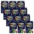 Dixon Wax Crayons, 16 Color Set, Pack of 12