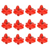 BUYGOO Poultry Water Nipples Automatic Horizontal Side Mount Clean Drinker for Chicken Duck Quail Pack of 12