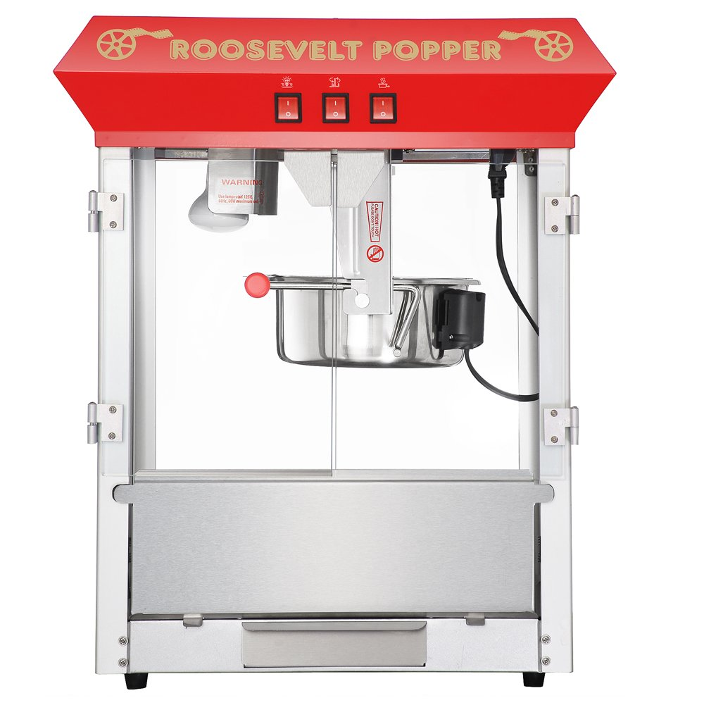 Great Northern Popcorn 6010 Roosevelt Top Antique Style Popcorn Popper Machine, 8-Ounce 5