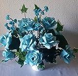 Aqua White Table Centerpiece Flower Arrangement - Wedding Decoration Sale