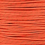 Reflective 7-strand 4mm 550LB Paracord Rope Made in the USA - Parachute Cord with Reflective Tracers