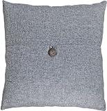 """Decorative Button Grey Throw Pillow Cover 18"""""""