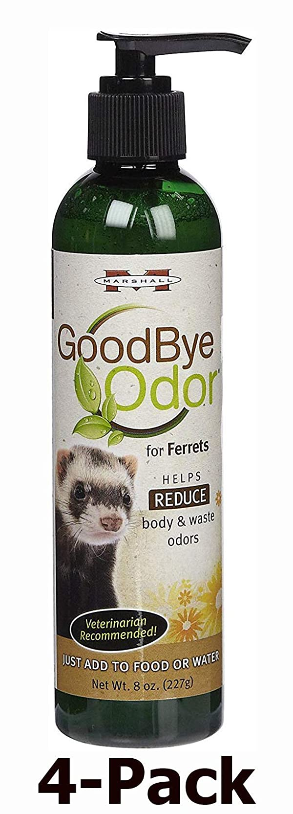 Marshall Pet Goodbye Natural Waste Deodorizer - 8oz (4-Pack) (Tamaño: 4-Pack)