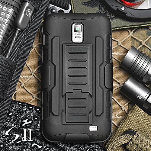 Galaxy S2 Case, Cocomii [HEAVY DUTY] Galaxy S II Skyrocket Robot CaseNEW [ULTRA FUTURE ARMOR] Premium Belt Clip Holster Kickstand Bumper Case [MILITARY DEFENDER] Full-body Rugged Dual Layer Hybrid Protective Cover Bumper Case [COCOMII WARRANTY] ::: The Ultimate Protection from Drops and Impacts for your Samsung Galaxy S2 I727 (Black/Black) :::9733;9733;9733;9733;9733; (Samsung Galaxy S2 Otter Case compare prices)