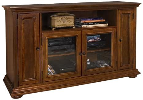 Home Styles 5527-10 Homestead Entertainment TV Credenza, Distressed Warm Oak Finish