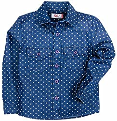Boys Printed Denim Full Sleeve Shirt - Light Blue (2-3Y)