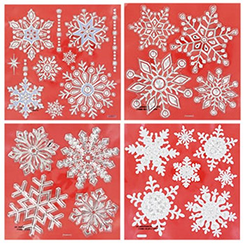 Snowflake Decorative Window Stickers, 25 Snowflakes (Tenacious D Decals compare prices)