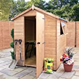 7ft x 5ft Shiplap Apex Wooden Storage Shed - Premier Groundsman - Brand 7x5 New Double Door Full Tongue and Groove Sheds