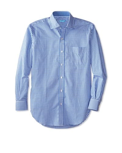 J. McLaughlin Men's Medium Gingham with Diamond Ribbon Shirt