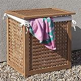 Outdoor Teak Towel Hamper
