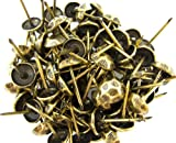 "Springfield Leather Companys Oxford Hammered Nail Tacks Antique Brass 3/4"" 100pk"