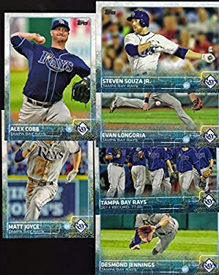 Tampa Bay Rays 2015 Topps MLB Baseball Regular Issue Complete Mint 21 Card Team Set with Evan Longoria Plus
