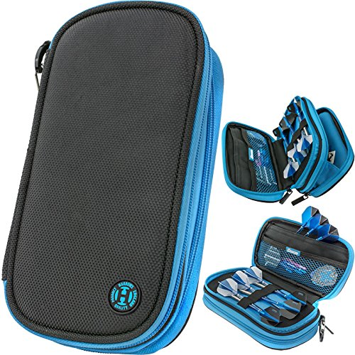 HARROWS Z800 BLUE BLACK DARTS CASE by PerfectDarts