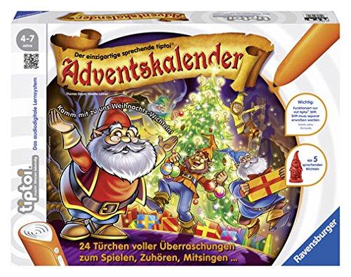 """Ravensburger tiptoi® Adventskalender """"Weihnachten im Wichtelwald"""": 24 Türchen voller Überraschungen zum Spielen, Zuhören und Mitsingen"""