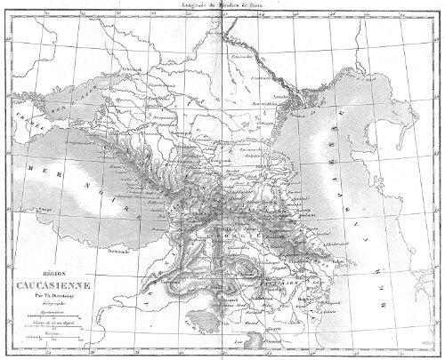 EURASIA: Region caucasienne(Caucasus)Caucasus, 1879 map