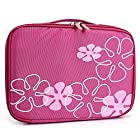 French Rose Floral Portable DVD Player Bag 9 inch - 10 inch fits Sony DVP-FX730 7-Inch Portable DVD Player