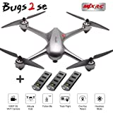 MJX B2 SE Bugs 2 SE RC Quadcopter with 3 Battery-GPS One Key Return Brushless Motors, Built-in 1080P 5G WiFi Camera, and 2.4 GHz Two-Way Communication Technology Barometer Altitude (B2SE)