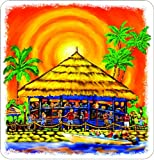 "10"" TIKI BAR Printed vinyl decal sticker for any smooth surface such as windows bumpers laptops or any smooth surface."