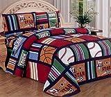 Fancy Collection Blue Red Green Sport Kids/teens 3 Pc Sheet Set Pillow Shams Bedding Twin Size