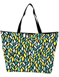 Snoogg A Seamless Leaf Pattern Waterproof Bag Made Of High Strength Nylon