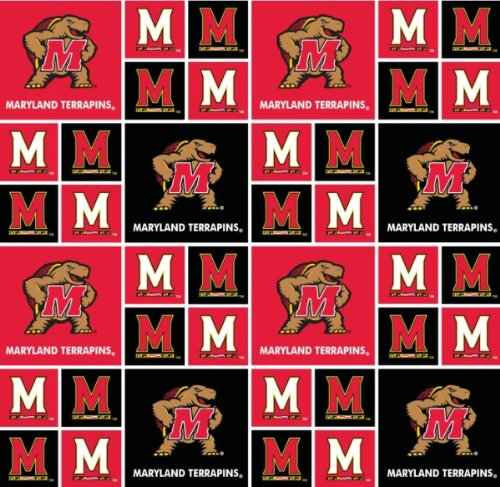 Maryland Terps Cotton Fabric Maryland Cotton Fabric Sold By The Yard