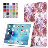MoKo iPad Pro Case - Ultra Slim Lightweight Smart-shell Stand Cover with Auto Wake / Sleep for Apple iPad Pro 12.9 Inch iOS 9 2015 Release Tablet, Floral PURPLE