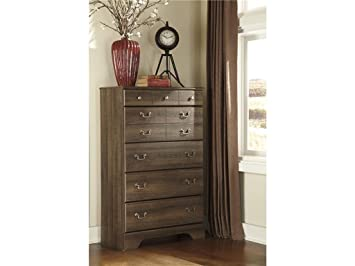 Allymore Brown Five Drawer Chest