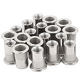 20pcs 3/8''-16 Rivet Nuts Threaded Insert Nutsert Rivnuts Stainless Steel (Color: 304 Stainless Steel, Tamaño: 3/8-16)
