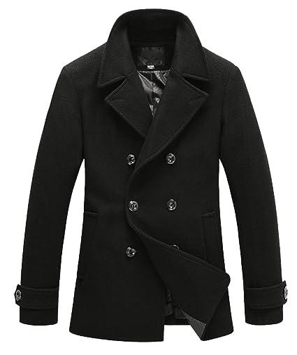 Wantdo Mens Winter Wool Blend Pea Coats