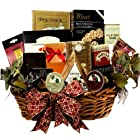 Epicurean Feast Grand Gourmet Food Gift Basket with Caviar (Candy Option)