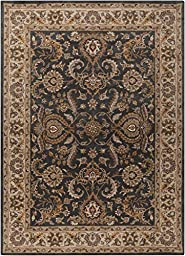 Gray Rug Classic Design 2-Foot 3-Inch x 14-Foot Hand-Made Traditional Wool Carpet