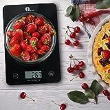 1byone Professionelle Digitale Küchenwaage, Haushaltswaage, Touch-Sensitive, Elegantes Schwarzes gehärtetes Glas ( Max Tragkraft 5000g 11 Ibs, Schwarz ) -